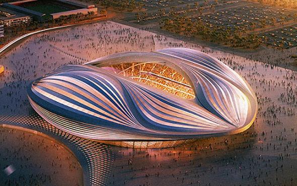 הדמיית אצטדיון בקטאר. הפנים היפות הן פריז סן ז'רמן