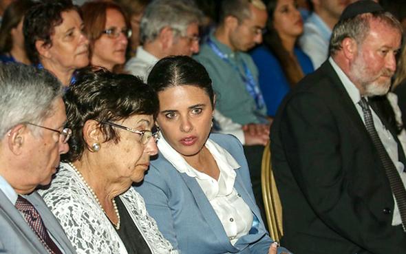איילת שקד ונשיאת העליון מרים נאור, צילום: יריב כץ