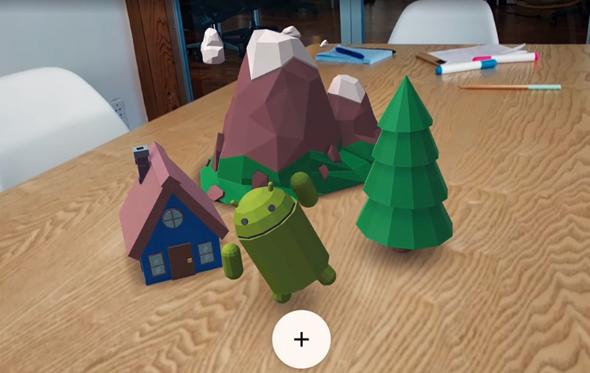גוגל ARCORE מציאות מוגברת 2, צילום: גוגל ARCORE