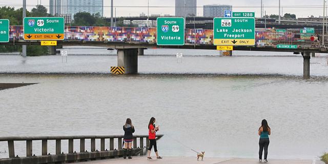 הצפות בעיר יוסטון, טקסס. אזורים מסוימים לא יהיו ראויים למגורים במשך שבועות ואף חודשים, צילום: גטי אימג