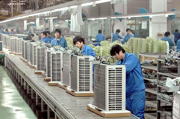 A Haier Electronics factory in Qingdao, China. Photo: EPA