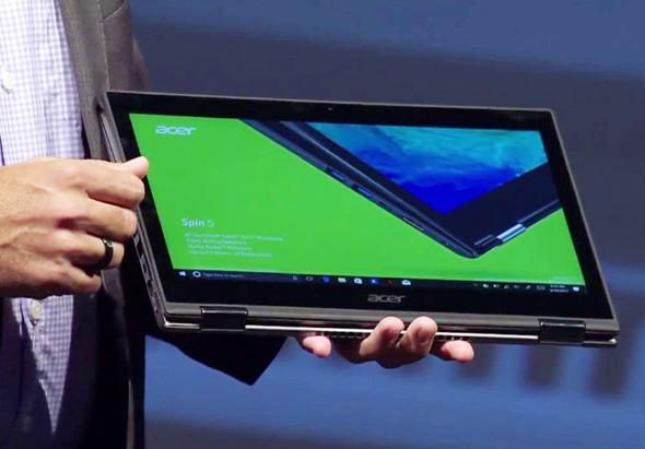 מחשב הספין בתצורת טאבלט, צילום: ACER