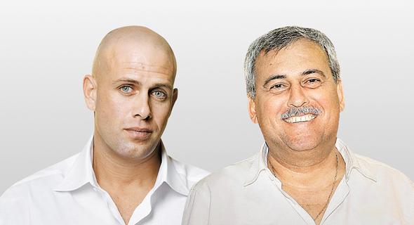 מימין נחום ביתן ו עדי עזרא, צילום: שוקה כהן, רמי זרנגר