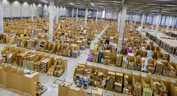 An Amazon warehouse. Photo: Bloomberg