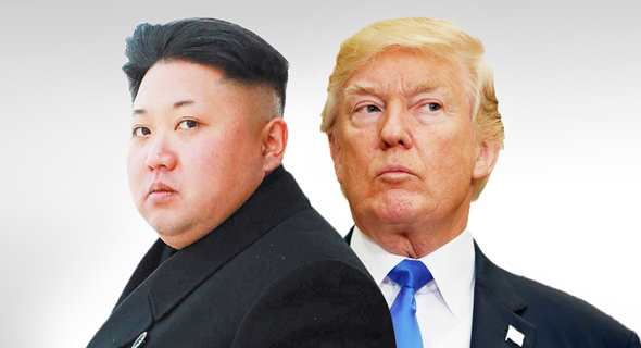 דונלד טראמפ ו קים ג'ונג און נשיא קוריאה הצפונית, צילום: איי פי, רויטרס