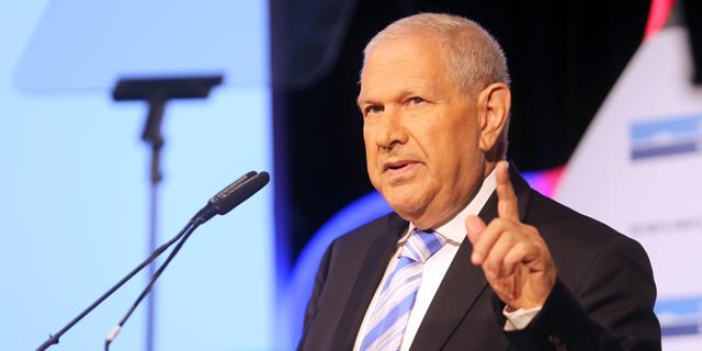 """יו""""ר בנק לאומי דוד ברודט בוועידה הכלכלית הלאומית, צילום: נמרוד גליקמן"""