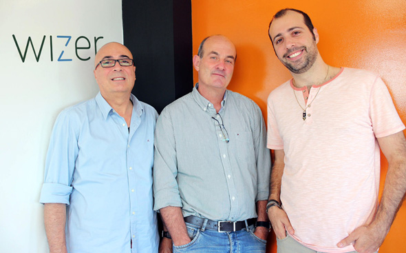Left to right: Wizer co-founders Mano Geva, Alon Ravid, Idan Geva