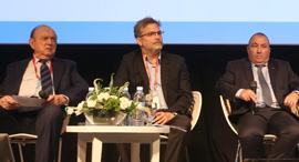 הוועידה הכלכלית הלאומית 2017 פאנל ביטוח ופנסיה מימין אריה אברמוביץ' אורי אלדובי ו לוי רחמני, צילום: נמרוד גליקמן
