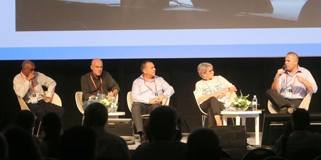 מימין: קורץ, ויגודסקי, לוין, יובל ובלס, צילום: נמרוד גליקמן