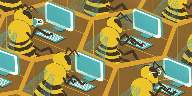 בינה מלאכותית מבני אדם: החברה שהופכת אנשים למוח-כוורת