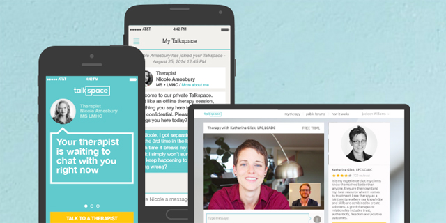Talkspace offers a varitey of methods to receive remote therapy. Photo: Talkspace