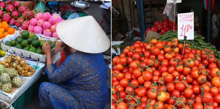 ישראל (מימין) דורגה כמדינה הכי יקרה, וייטנאם הכי זולה, צילומים: ויקיפדיה , בלומברג