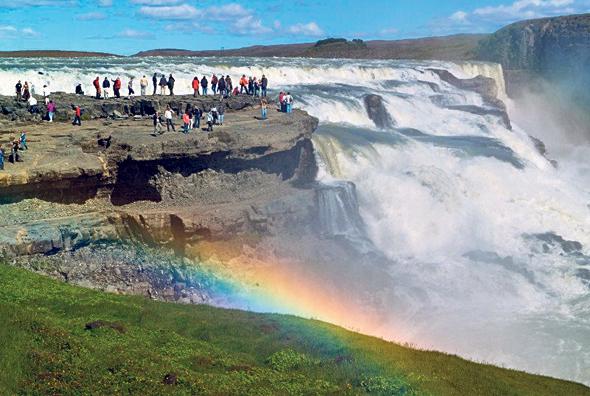 מפל גולפוס באיסלנד. התיירות היא תחום היצוא העיקרי