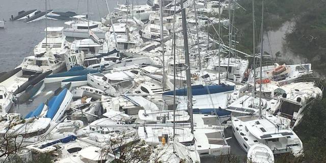 """הוריקן """"אירמה"""": הנזק באיים סן מרטן וסן ברתלמי מוערך ב-1.2 מיליארד יורו"""