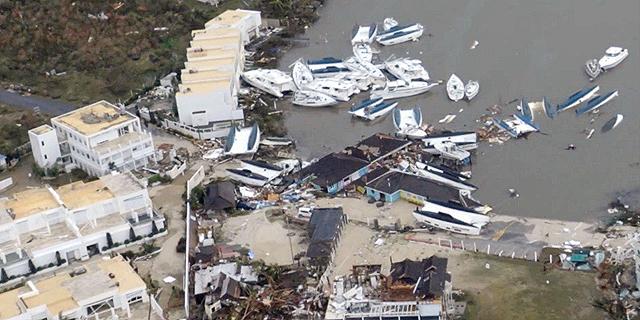 נזקי הוריקן אירמה בסנט מרטן, צילום: רויטרס