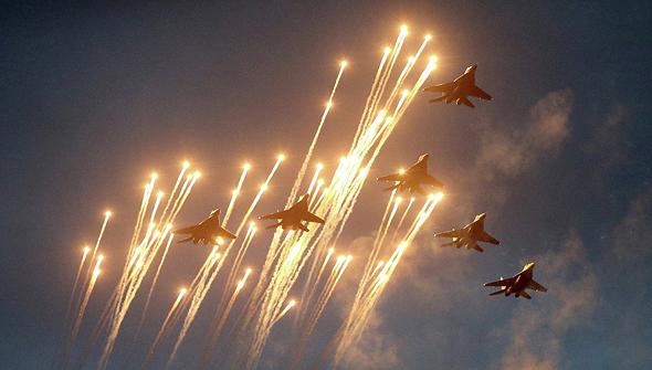 מטוסי מיג 29 במפגן אווירי