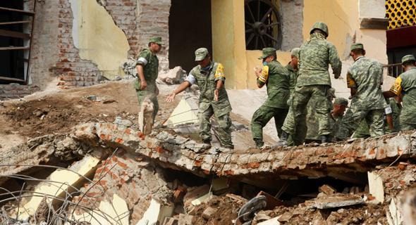 רעידת אדמה רעש אדמה ב דרום מקסיקו צונאמי 3, צילום: רויטרס