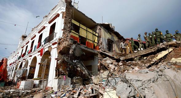 רעידת אדמה רעש אדמה ב דרום מקסיקו צונאמי 7, צילום: רויטרס
