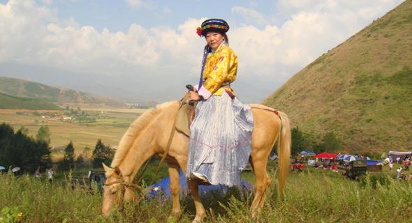 ווייהונג צ'ו בעת שהותה בשבט המוסו