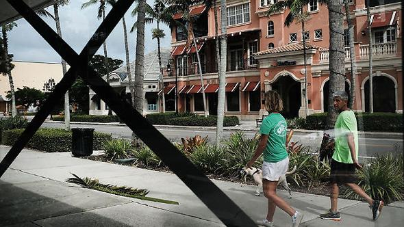 פלורידה, לפני הגעת הוריקן אירמה, צילום: איי אף פי