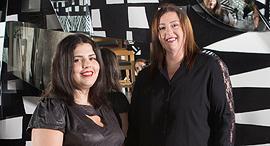 """מגזין נשים 12.9.17 מימין אוה מדזיבוז  יו""""ר הרשות ה שנייה ו מרסל מוסרי, צילום: תומי הרפז, צולם במסעדת קוואטרו"""