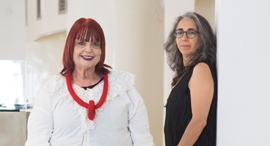 מגזין נשים 12.9.17 שרי פארן מייסדת בעלים ו אוצרת גלריה פריסקופ גלית גאון אוצרת, צילומים: תומי הרפז