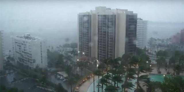 ההוריקן בפלורידה, צילום: youtube