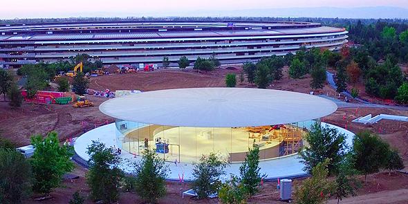 אולם סטיב ג'ובס פארק אפל אייפון 8, צילום: 9to5mac