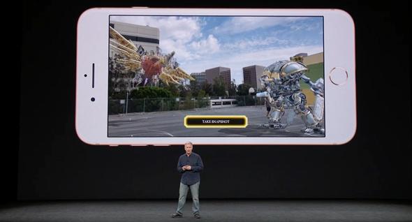 אירוע אפל 2017 מצלמת אייפון 8 משחק