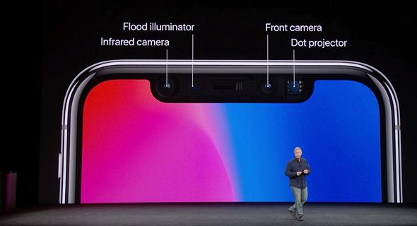 אירוע אפל 2017 אייפון X מפרט מצלמת ID