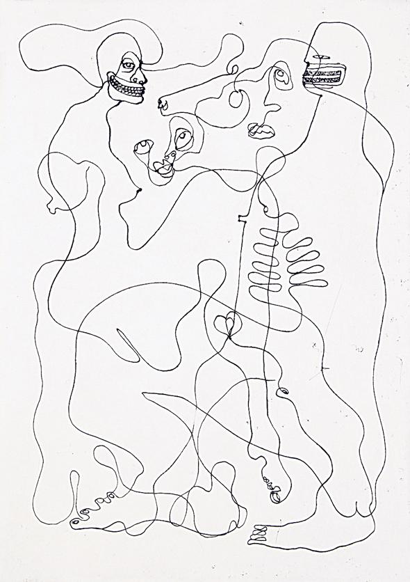 """עבודה של ג'ספר וולדרסטרן מתערוכת המכירה """"פלסטר"""""""