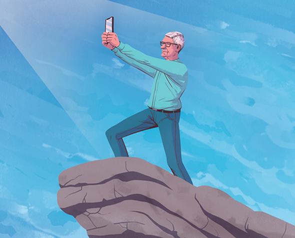 איור ציור יונתן פופר טים קוק אפל אייפן iphone, איור: יונתן פופר