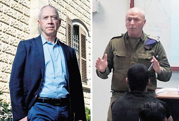מימין: יוסי חדד בעת שירותו הצבאי ויואב גלנט, צילום: אתר רשת עמל, עמית שעל