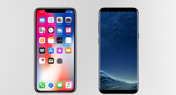 אייפון X וגלקסי S8