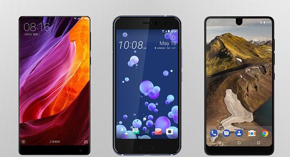 התחלופות המומלצות: השיאומי מי מיקס2, האסנשיאלפון ו-HTC U11