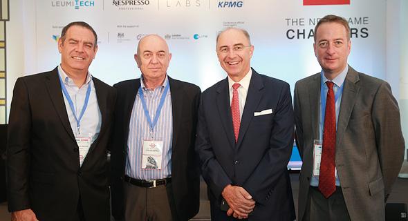 מימין: דיויד קורי, חאבייר רולט, יואל אסתרון ונמרוד קוזלובסקי, צילום: אוראל כהן