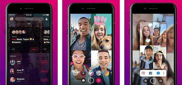 וידאו צט פייסבוק בונפייר bonfire, צילום: Apple App store
