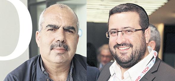 מימין: משה פרידמן וסאמי סעדי
