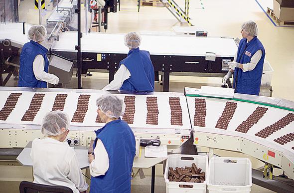 מפעל מונדלז באוקראינה. תוסף מלאכותי במילקה