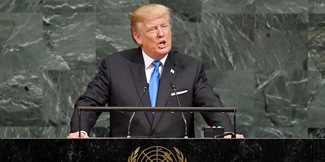 """טראמפ באו""""ם: """"אם לא תהיה לנו ברירה - נשמיד לחלוטין את צפון קוריאה"""""""