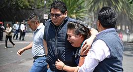 רעידת אדמה בעוצמה 7.1 הורגשה בדרום מקסיקו ובבירה מקסיקו סיטי, צילום: איי אף פי