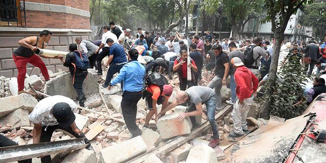 """עוד רעש חזק במקסיקו: """"בניינים בבירה רעדו"""""""