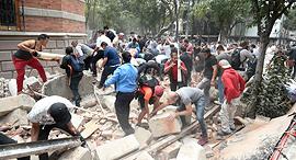 נזקי רעידת האדמה הקודמת במקסיקו, צילום: איי אף פי