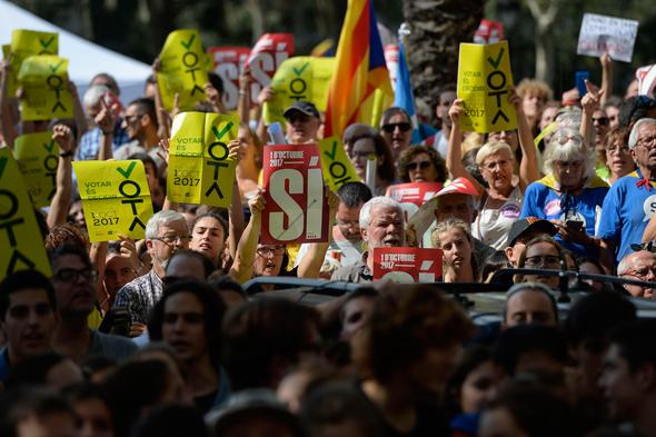 ההפגנות בברצלונה, צילום: איי אף פי