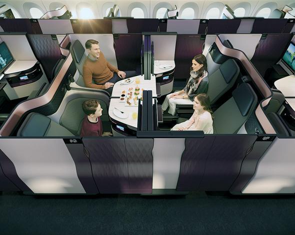 מחלקת העסקים של קטאר איירווייז, צילום: Qatar Airways