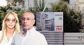 שלי נרקיס ו ענבל אור על רקע השטח ב רחוב הושע 18 בתל אביב, צילום: עמית שעל, אוראל כהן
