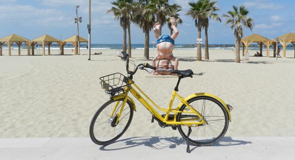 An Ofo bike in Tel Aviv