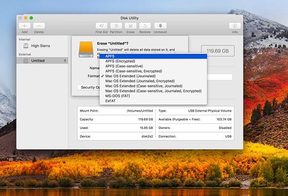 אפל OSX HIGH SIERRA מערכות הפעלה