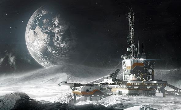 איך תיראה תחנת המחקר על הירח?
