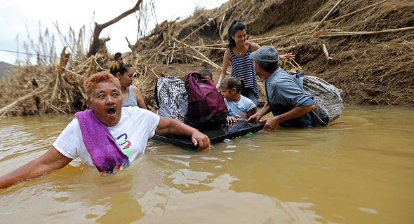ניצולי אסון הטבע בפוארטו ריקו, צילום: איי פי